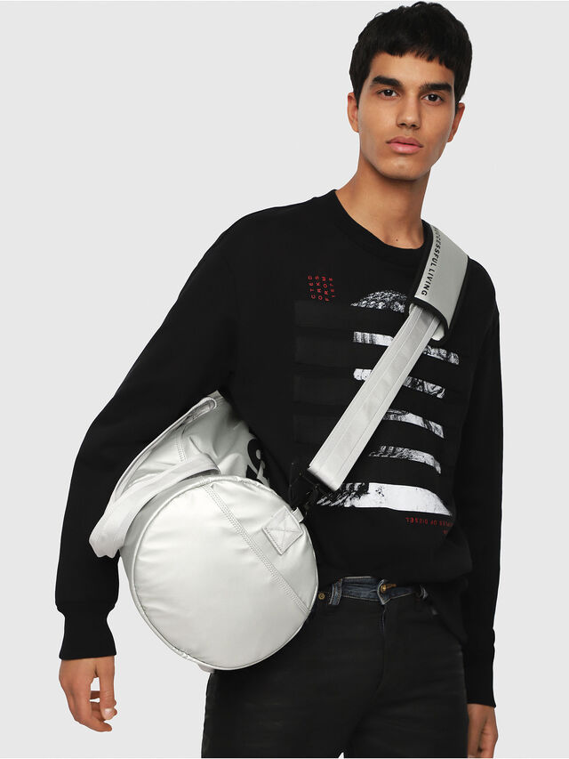 Diesel - F-BOLD DUFFLE, Silver - Travel Bags - Image 5