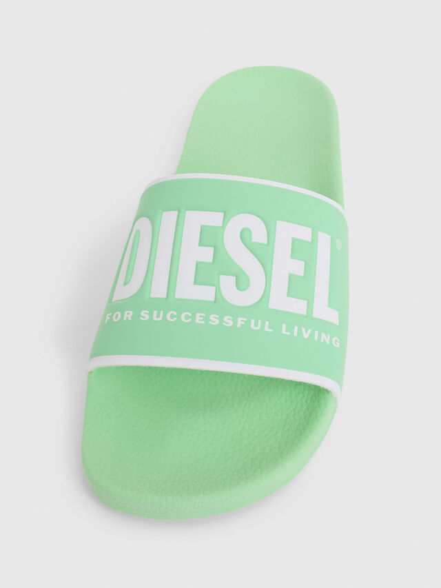 Diesel - SA-VALLA W, Green Fluo - Slippers - Image 4