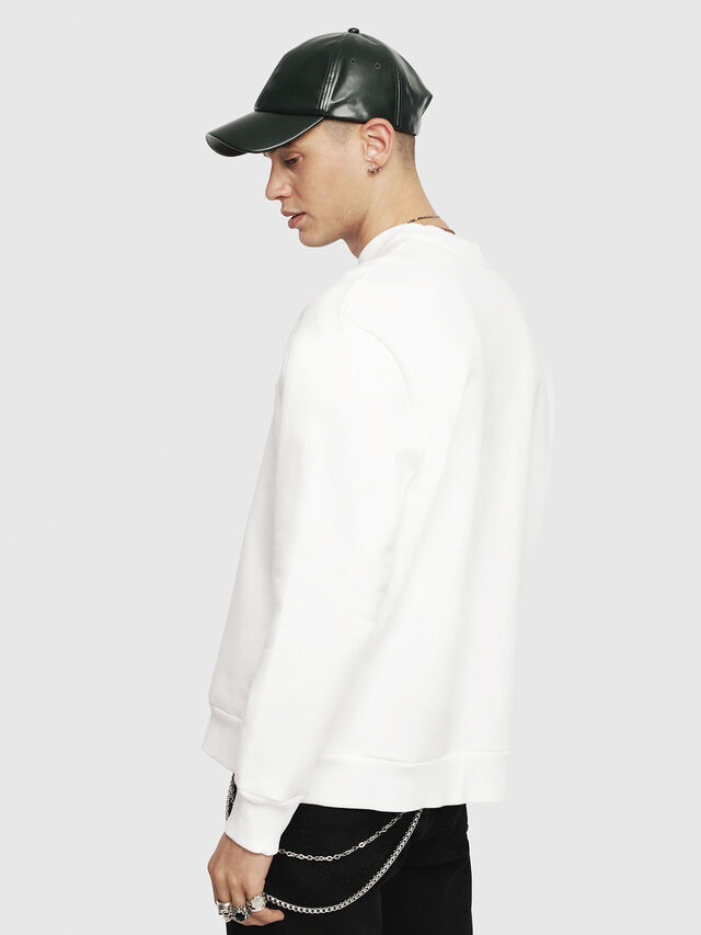 Diesel - S-CREW-DIVISION, White - Sweatshirts - Image 2