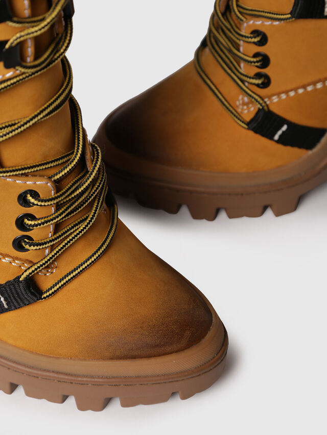 Diesel - D-VIBE MB, Yellow Ocher - Ankle Boots - Image 4