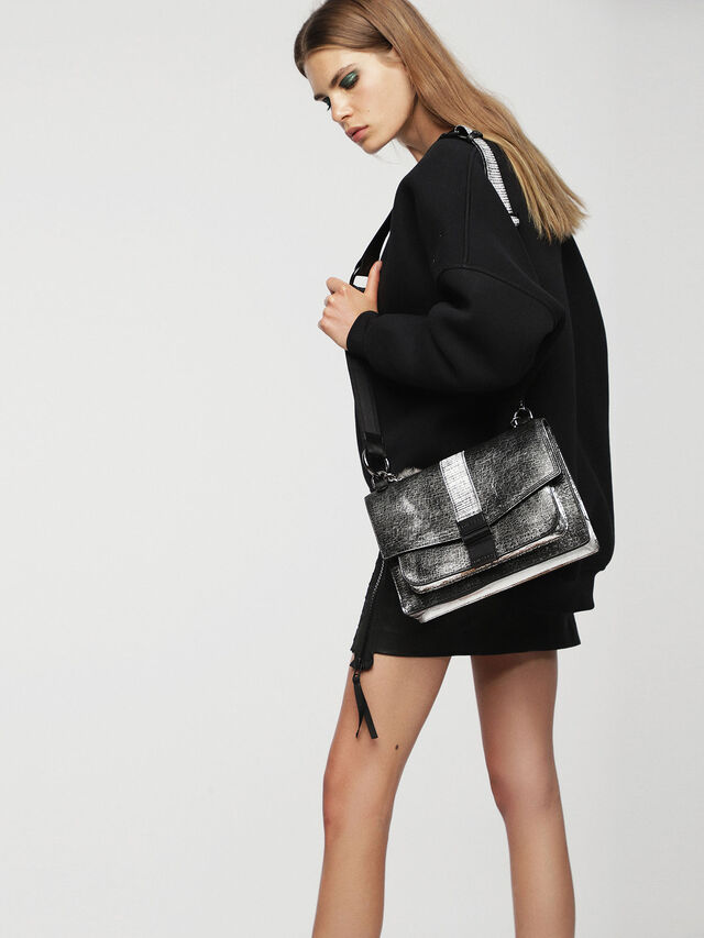 Diesel - MISS-MATCH CROSSBODY, Silver/Black - Crossbody Bags - Image 5