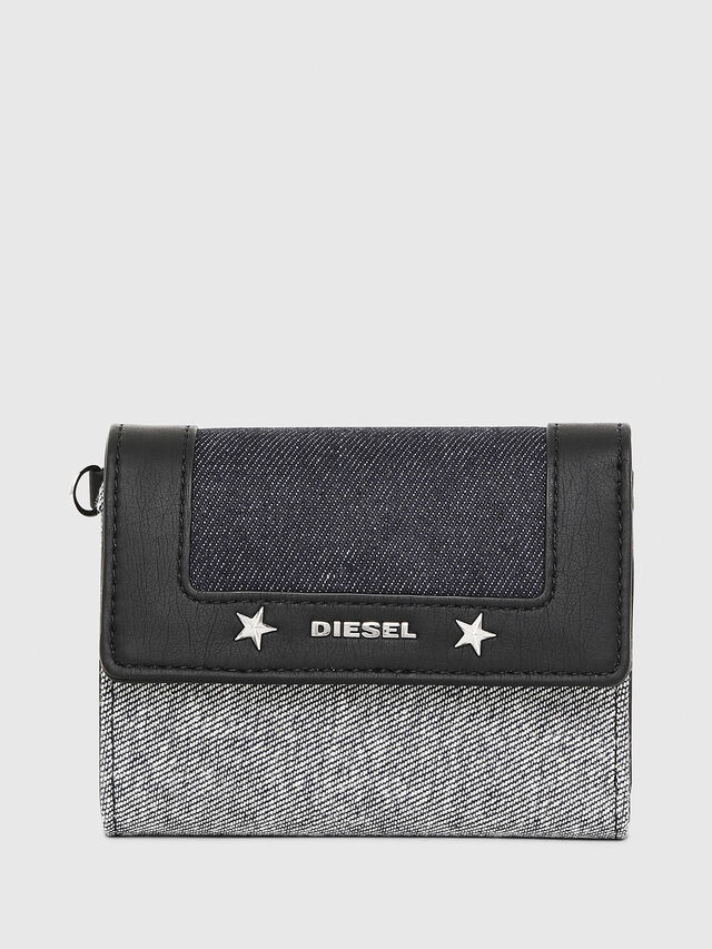 Diesel - YAMI II, Gray/Black - Small Wallets - Image 1