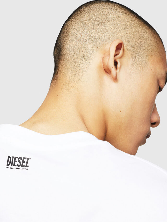 Diesel - T-JUST-BX1, White - T-Shirts - Image 4