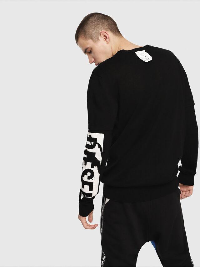 Diesel - K-BETTE, Black/White - Sweaters - Image 2