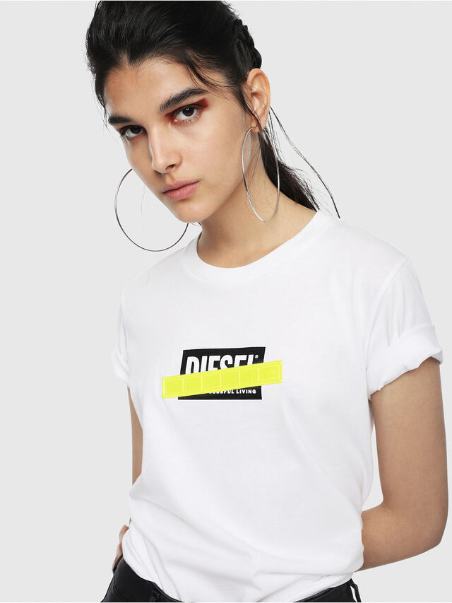 Diesel - T-SILY-WL, White - T-Shirts - Image 3