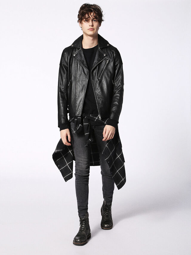 Diesel - L-KRAMPS, Black - Leather jackets - Image 4
