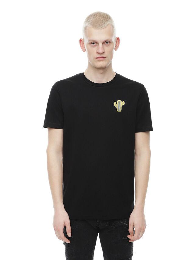 Diesel - TY-CACTUS, Black - T-Shirts - Image 1