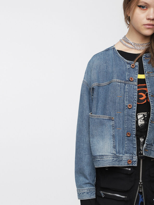 Diesel - DE-CRUSHIN, Blue Jeans - Denim Jackets - Image 5