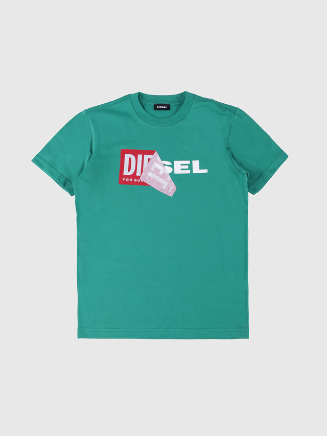 Diesel - TDIEGO, Water Green - T-shirts and Tops - Image 1