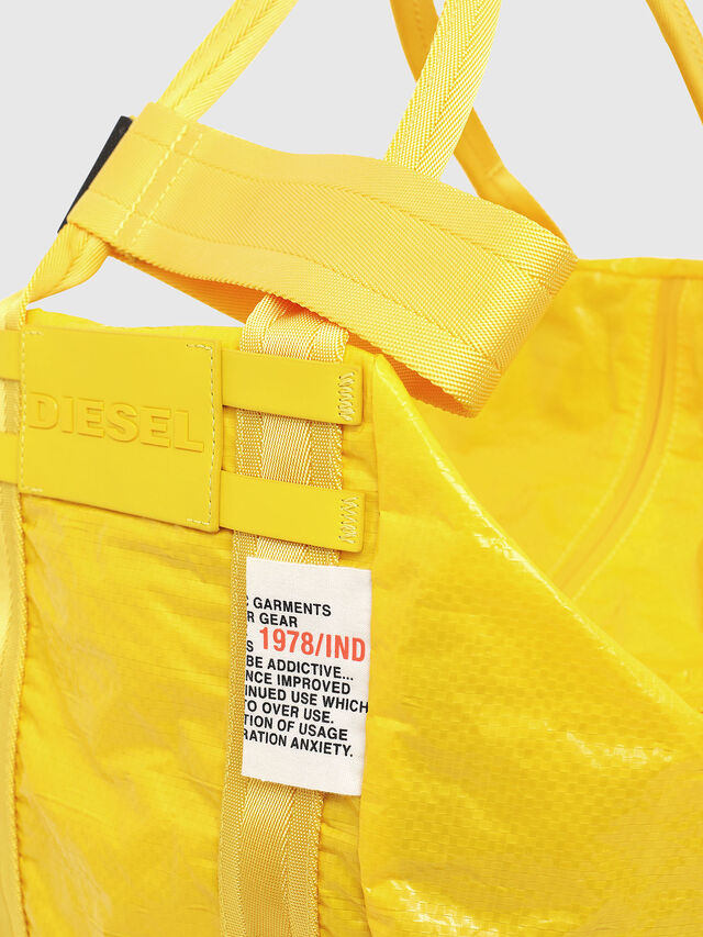 Diesel - D-CAGE SHOPPER, Yellow - Shopping and Shoulder Bags - Image 3