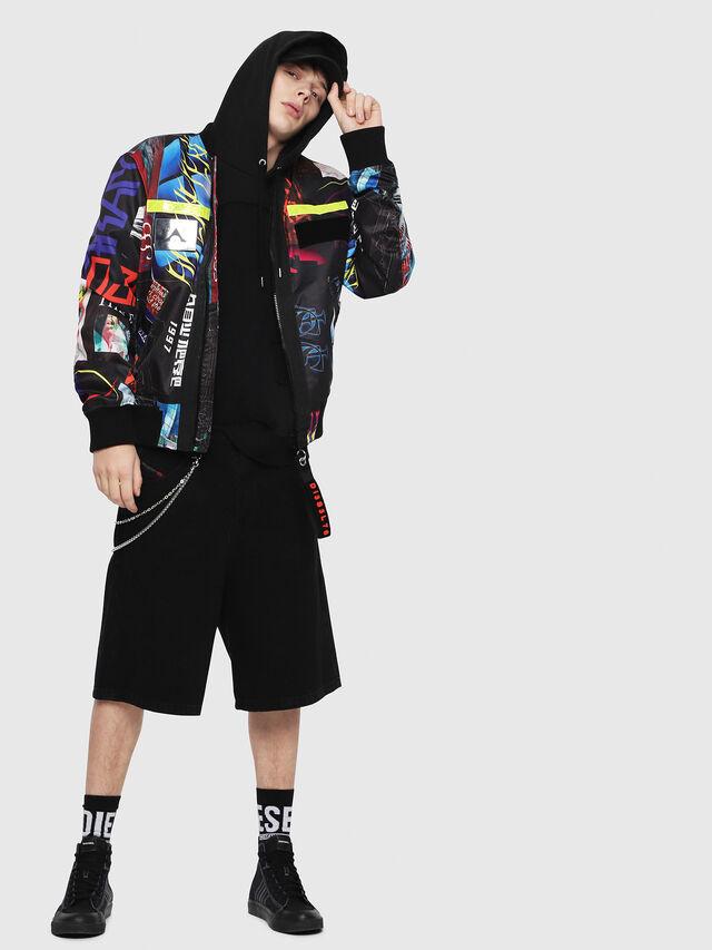 Diesel - J-ENKA-PRINT, Multicolor/Black - Jackets - Image 5