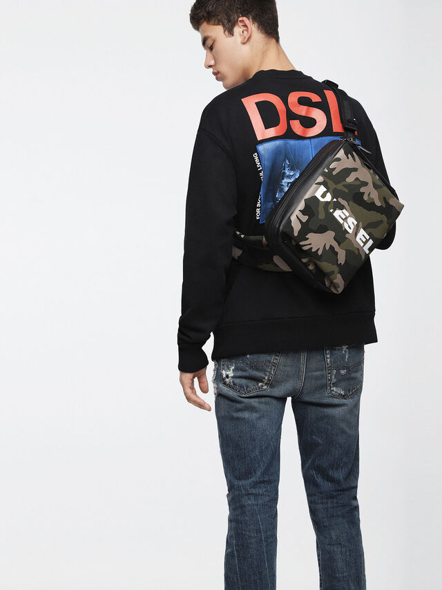 Diesel - F-SUBCAMOU MONO, Green Camouflage - Backpacks - Image 4