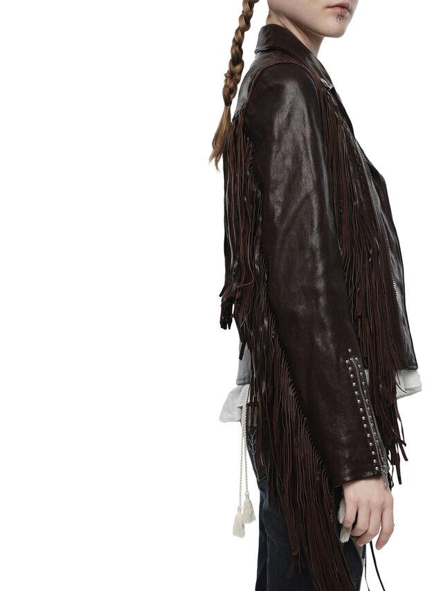 Diesel - LAMEXI, Dark Brown - Leather jackets - Image 3