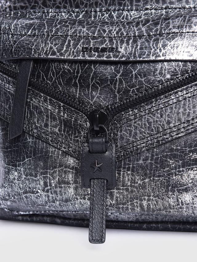 Diesel - LE-ONY, Silver - Backpacks - Image 4
