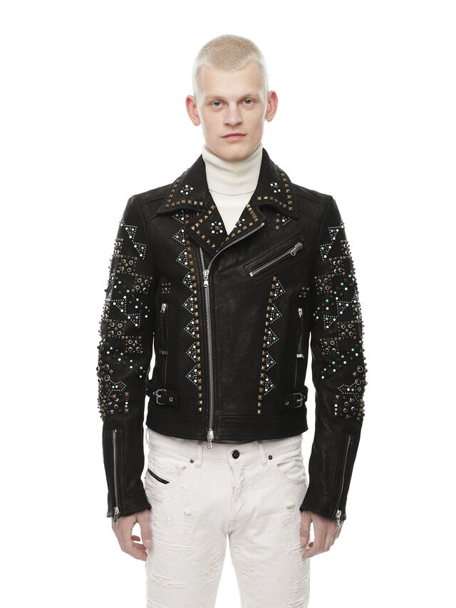 Diesel - LANDITO, Black - Leather jackets - Image 1