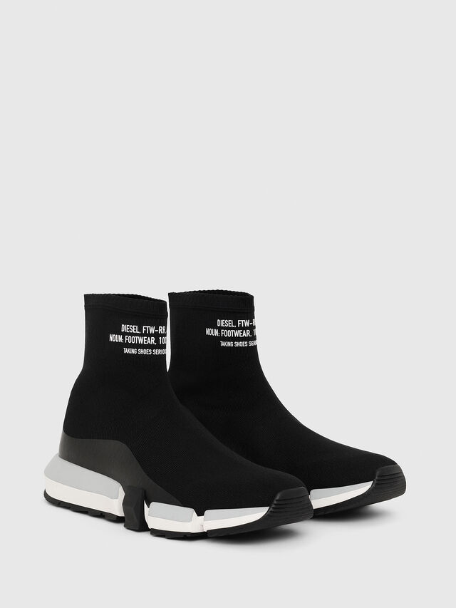 Diesel - H-PADOLA HIGH SOCK, Black - Sneakers - Image 2
