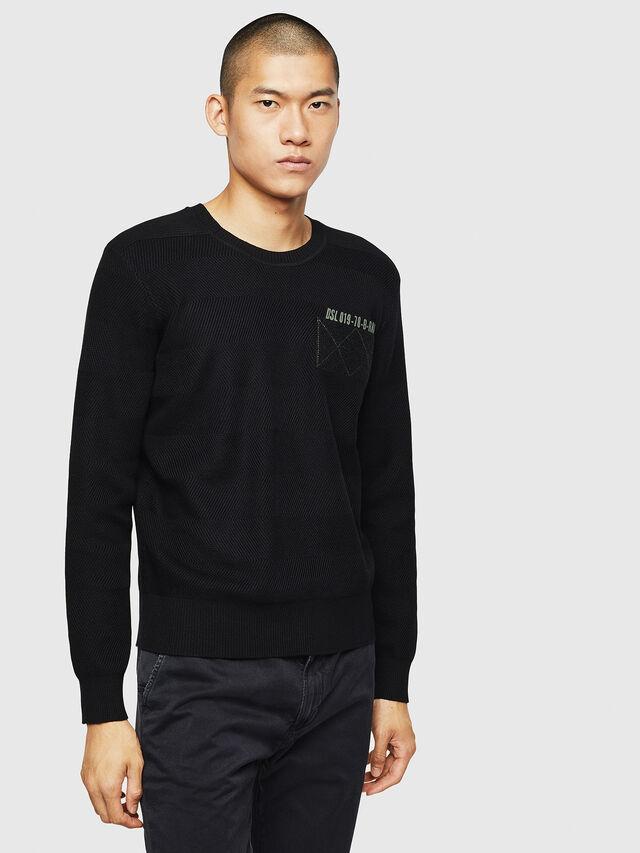 Diesel - K-STLE, Black - Sweaters - Image 1
