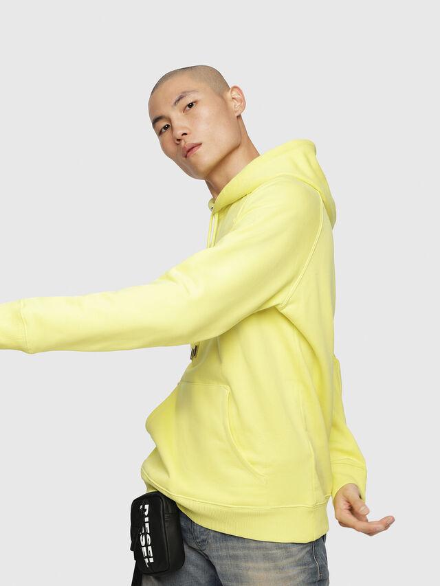 Diesel - S-GIM-HOOD-A, Light Yellow - Sweatshirts - Image 3