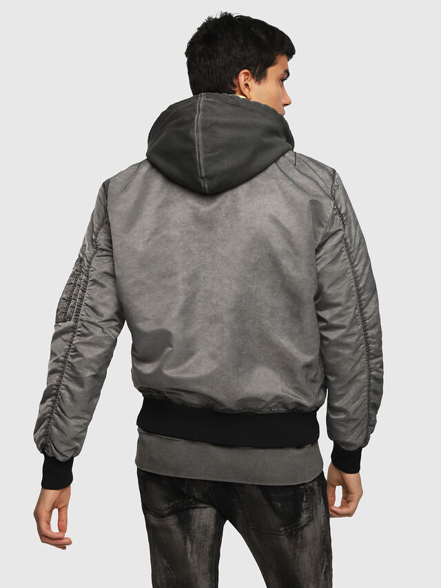 Diesel - J-KUNIO, Gray/Black - Jackets - Image 2