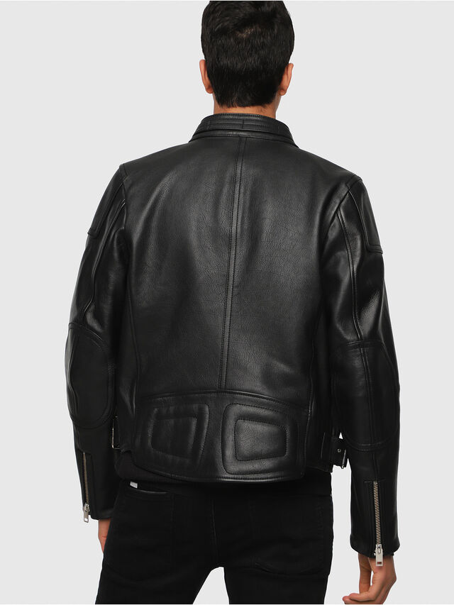 Diesel - L-RUSHIS, Black Leather - Leather jackets - Image 2