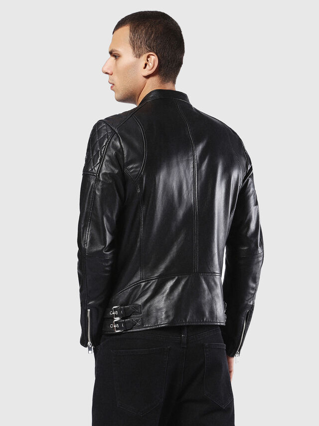 Diesel - L-MARTON, Black - Leather jackets - Image 2