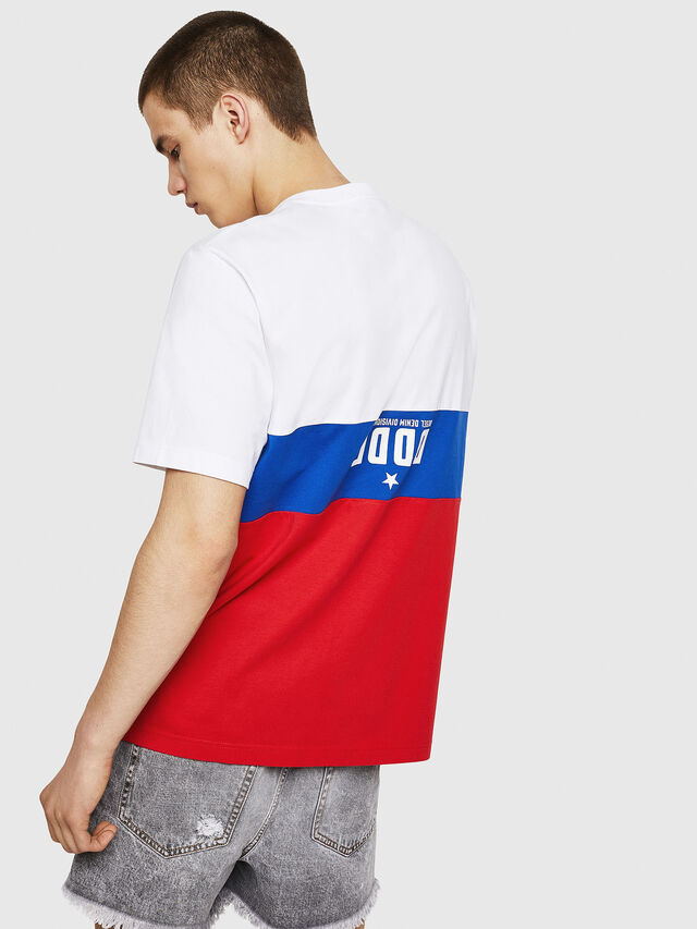 Diesel - T-JUST-A1, White/Red/Blue - T-Shirts - Image 2