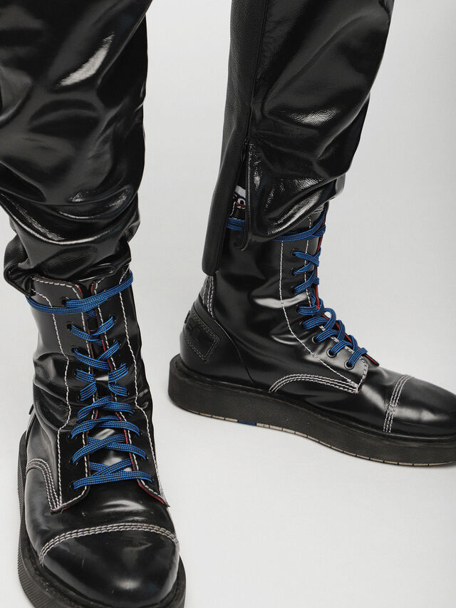 Diesel - P-MHARKY, Black Leather - Pants - Image 5
