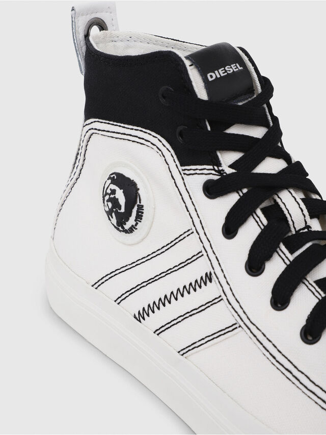 Diesel - S-ASTICO MID LACE, White/Black - Sneakers - Image 5