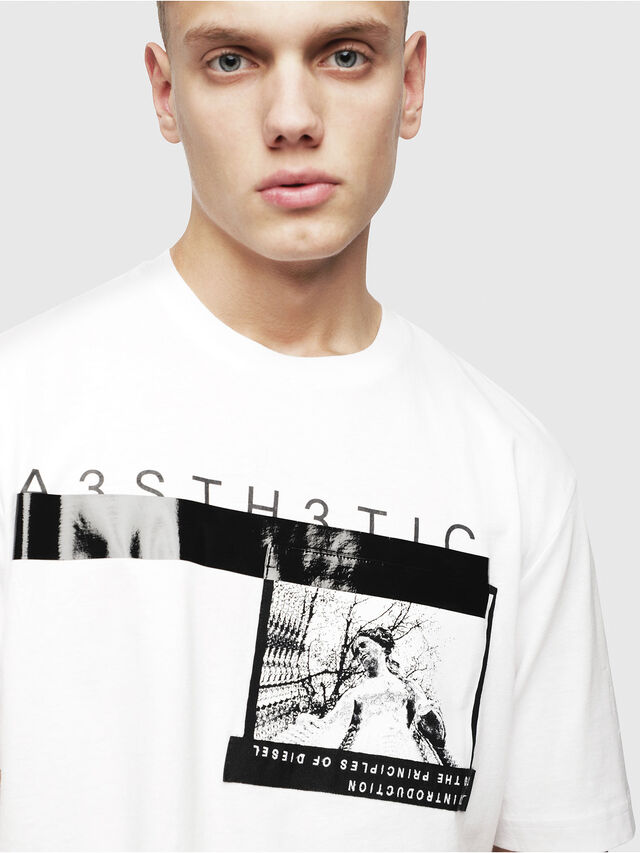 Diesel - T-JUST-YP, White - T-Shirts - Image 3