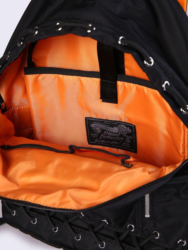 Diesel - F-SUPERPASS BACK, Black/Orange - Backpacks - Image 6