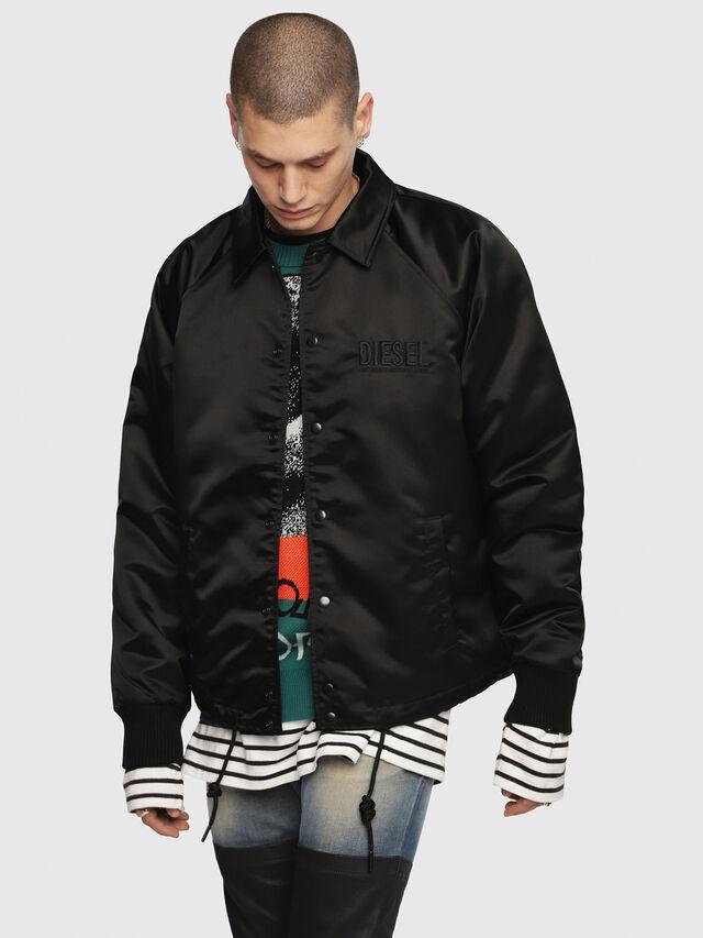 Diesel - J-AKIO, Black - Jackets - Image 1