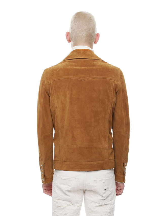 Diesel - LASKAI, Brown/Beige - Leather jackets - Image 2