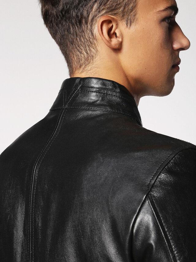 Diesel - L-RUSH, Black - Leather jackets - Image 6