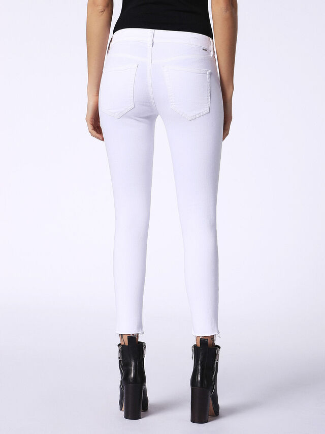 Diesel - Slandy 084EX, White Jeans - Jeans - Image 3