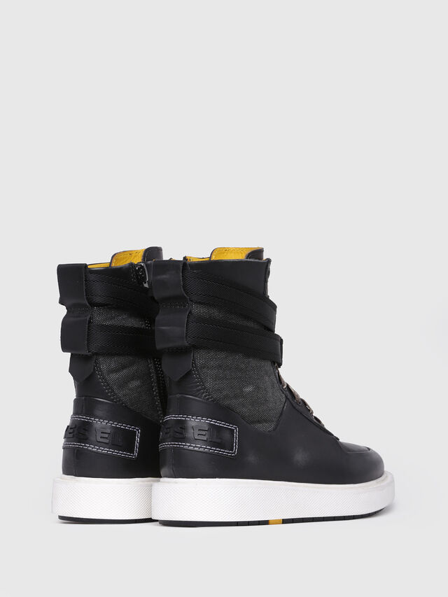 Diesel - H-CAGE HIGH ST, Black Leather - Boots - Image 3