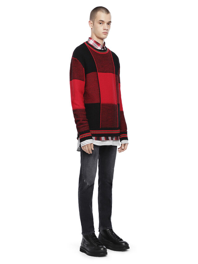 Diesel - KILTY, Red/Black - Sweaters - Image 4