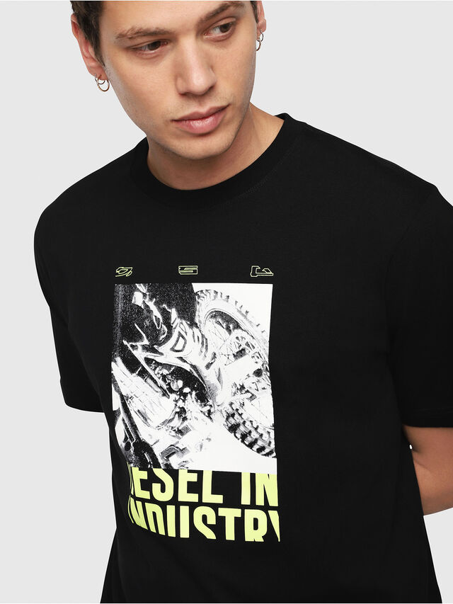 Diesel - T-JUST-Y3, Black - T-Shirts - Image 3