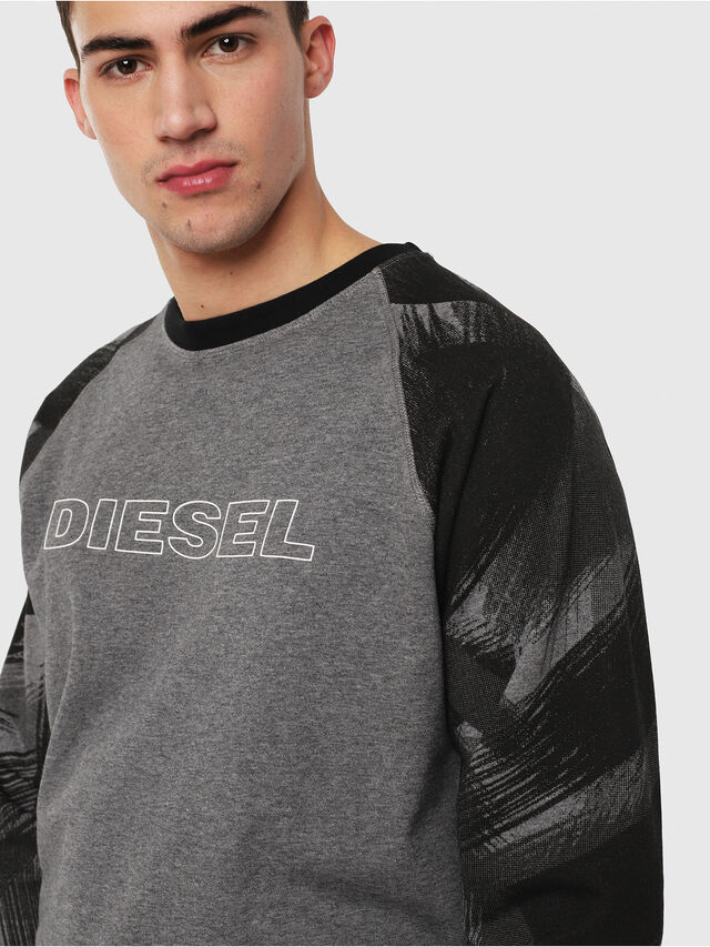 Diesel - UMLT-MAX, Gray/Black - Sweatshirts - Image 3