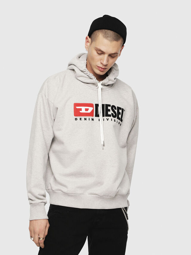 Diesel - S-DIVISION, Light Grey - Sweatshirts - Image 1