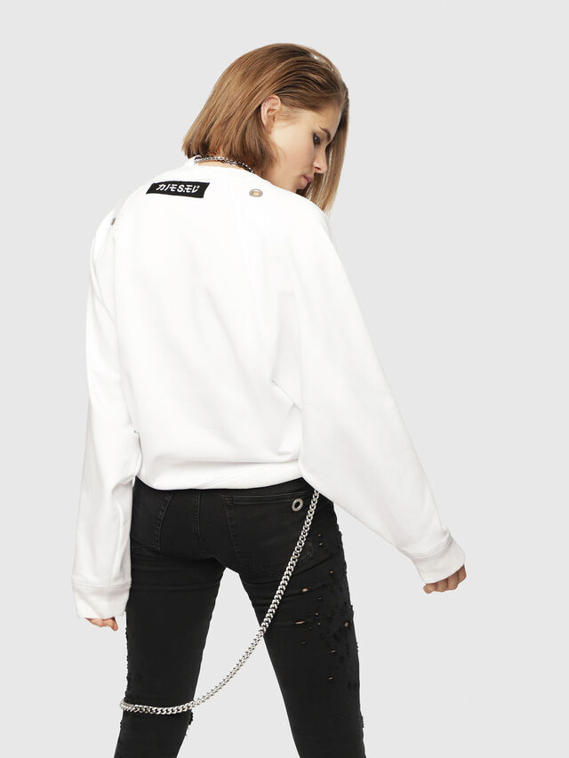 Diesel - F-HENNY-A, White - Sweatshirts - Image 2