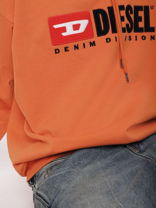 Diesel - S-DIVISION, Orange - Sweatshirts - Image 3