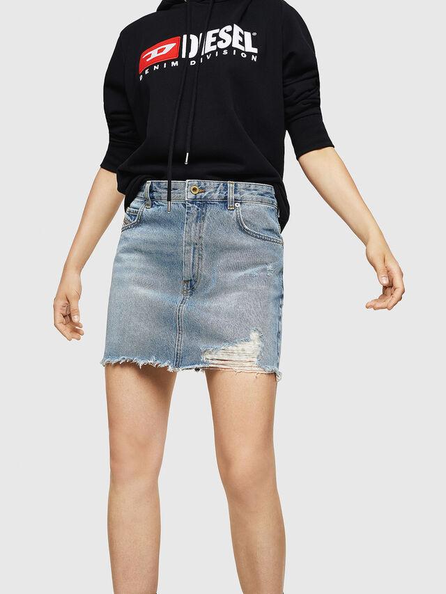Diesel - DE-ELLE, Blue Jeans - Skirts - Image 1