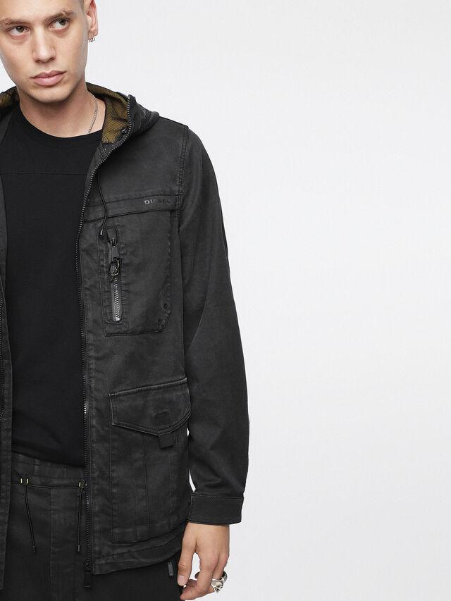 Diesel - JOQUE JOGGJEANS, Black/Dark Grey - Denim Jackets - Image 3