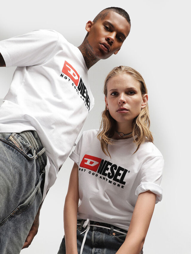 Diesel - HC-T-JUST-DIVISION, White - T-Shirts - Image 1