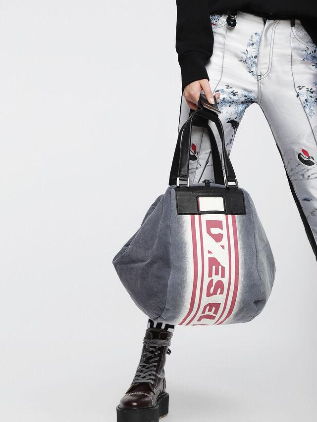 Diesel - D-SCRATCH SHOPPER, Blue - Shopping and Shoulder Bags - Image 5