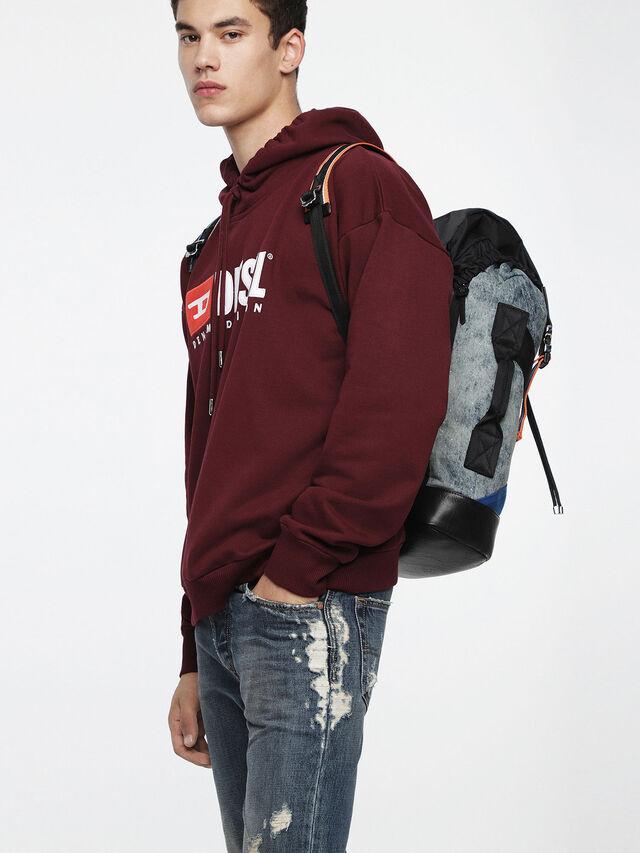 Diesel - M-XX BACK, Melange Blue - Backpacks - Image 5