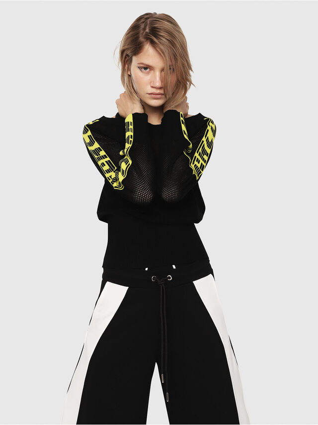 Diesel - M-NANCY, Black/Yellow - Sweaters - Image 4
