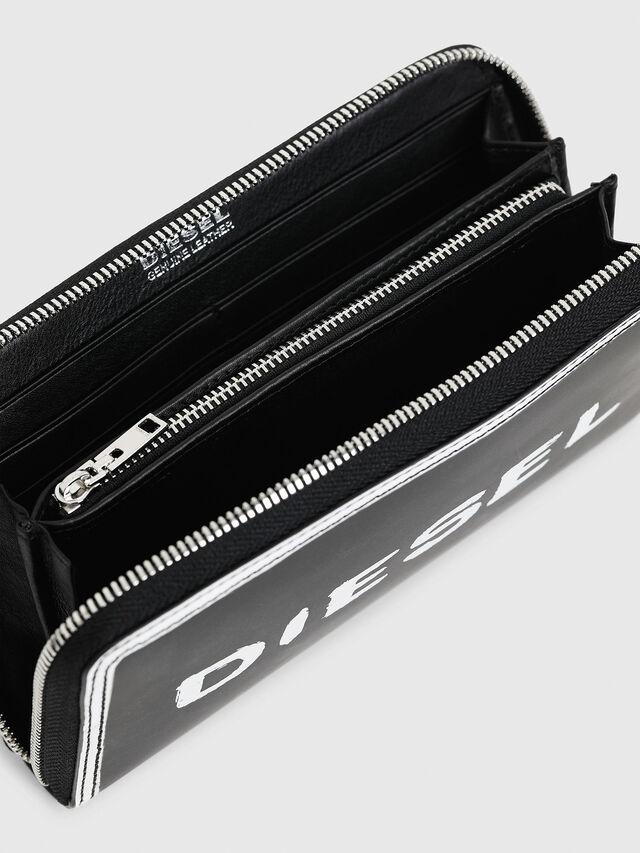 Diesel - GRANATO LC, Black/White - Zip-Round Wallets - Image 3