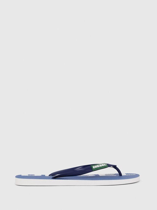 Diesel - SA-BRIIAN, Blue/White - Slippers - Image 1