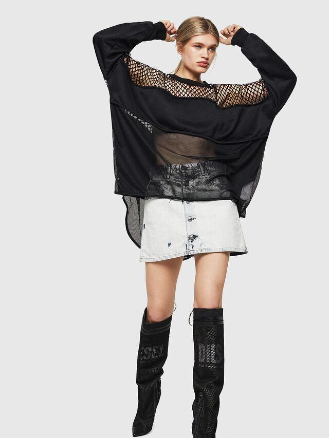 Diesel - F-SANDY-C, Black - Sweatshirts - Image 5